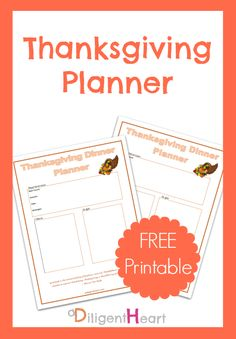 Thanksgiving Planner FREE Printables! Fall Family, Yummy Eats, School Projects, Nifty, Writers, Meal Planning, Free Printables, November, Turkey