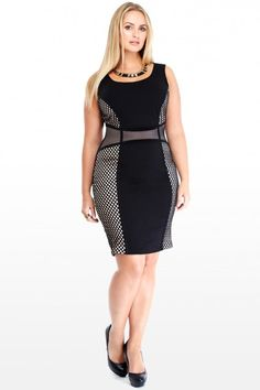 Plus Size Textured Scuba Dress | Fashion To Figure