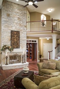 Living Room Fireplace Redo See More I Love The Staircase And