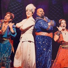 """Adam Jacobs (@adamjacobsnyc) posted on Instagram: """"Have I mentioned lately how much I MISS theater?  And these wackos? @jmiglehart @brandononeillofficial #jonathanschwartz @aladdin"""" • Aug 25, 2020 at 4:53am UTC Disney Animation, Animation Film, Adam Jacobs, Aladdin Musical, Disney Animated Films, I Missed, The 4, Theater, Musicals"""
