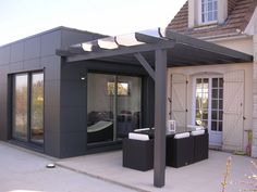 32 Ideas For Outdoor Patio Roof Kitchen Extensions House Extension Design, Roof Extension, Garden Room Extensions, House Extensions, Kitchen Extensions, Patio Wall, Patio Roof, Tre Sp, Outdoor Pergola