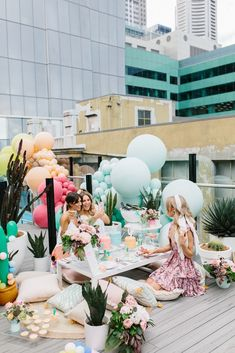 Rooftop Pool Party Decorations Inspiration