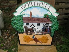 Wortwell, Norfolk, village sign. Country Uk, Country Roads, Norfolk England, Great Yarmouth, English Village, My Kind Of Town, Seaside Towns, Place Names, Name Signs
