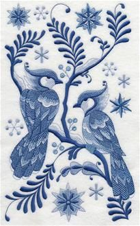 Machine Embroidery Designs at Embroidery Library! - Winter Birds and Butterflies
