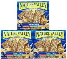 Nature Valley Crunchy Granola Bars, Variety Pack, 0.74 oz, 3 Pack