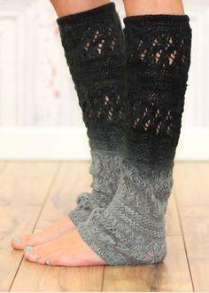 Ombré knit legwarmers