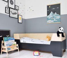 Dipdye bed van Little Dreamers - Klein en Stoer Kidsroom, Kid Spaces, Kids Bedroom, The Dreamers, Toddler Bed, Custom Design, New Homes, Wall Decor, House Design