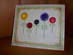pinterest 365 day 109: vintage button card, inspired by the very talented jessica at how about orange ... cute and simple and if you need she even provides a pdf template for the stems and leaves :)