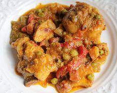Pollo Guisado, Chicken Wings, Shrimp, Meat, Food, Gastronomia, Mustard Chicken, Meatloaf, Pork Loin