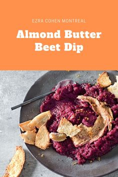 Almond butter brings a unique, subtle flavor to this dip. Combined with vibrant and flavorful beets, this dip has a rich, savory taste and is packed with nutirents for a healthy snack. Yummy Snacks, Healthy Snacks, Dip Recipes, Snack Recipes, Best Almond Butter, Beetroot Dip, Roasted Beets, Quick And Easy Breakfast, Butter Recipe