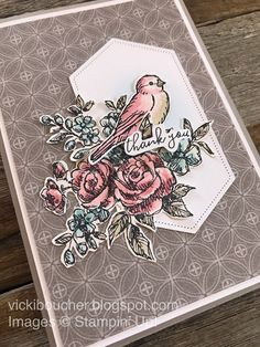 Vicki Boucher Stampin' Up! Demonstrator Australia: Week 20 Art With Heart Colour Creations Weekly Showcase Gray Granite Fun Fold Cards, Stampin Up Christmas, Bird Cards, Gray Granite, Sympathy Cards, Stamping Up, Flower Cards, Stampin Up Cards, I Card