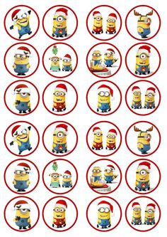 Christmas Minions PRECUT PREMIUM SWEETENED Wafer Paper Cupcake Toppers in Crafts, Cake Decorating | eBay