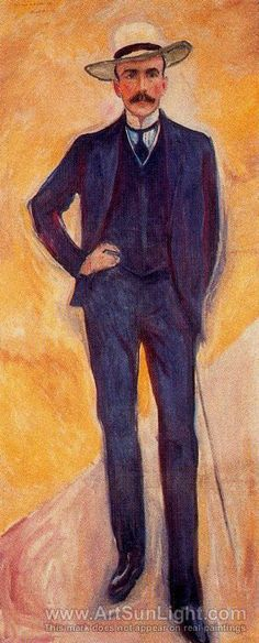 Portrait of Harry Graf Kessler, 1906, by Edvard Munch (1863-1944). Kessler was a German diplomat and art collector, who knew many of the great artists in Paris between the wars. His diaries of those times are fascinating. (Orig. pinner's comment.)