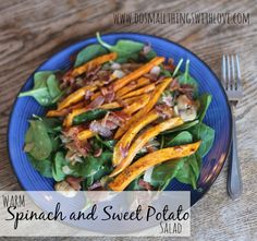 Warm Spinach and Sweet Potato Salad from #MyRainbow - Do Small Things with Love