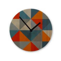 Grid Clock Gray