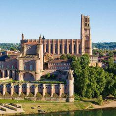 Kathedraal Saint-Cécile, Albi, Midi-Pyrénées, Frankrijk Sainte Cecile, Map Pictures, Architecture Old, France, Travel Tips, Camping, Construction, Spaces, Mansions