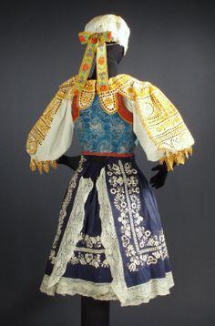folk costume from Piestany region of Slovakia