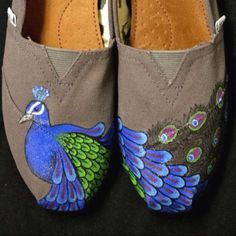 Hand Painted Peacock Toms