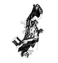 Mike Mignola -- 15 ilustraciones exquisitas sobre H.P Lovecraft | OLDSKULL.NET