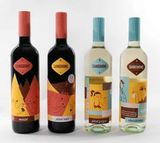 Retro California Vino Branding - The Sangwine Packaging Design Celebrates the Sunshine State | Covered in retro hues of turquoise, brown and mustard yellow, the packaging echoes the aesthetics of the 1950s/1960s. Nice use of colour blocking. The logo is clean and simple so it does not detract away from the detail of the design.