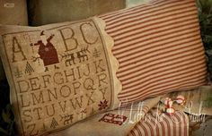 Primitive Cross Stitch Pattern  Letters for Santa  Choose