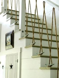 Rope bannister. This will be for my future lake mansion/cabin/shack.