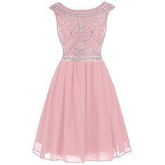Wedtrend Women's Short Beading Homecoming Chiffon V-back Prom Dress WT10145Grey2