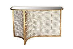 Rebeka Mirrored Console Table