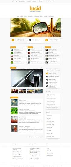 Lucid is a sleek and modern magazine theme that does a great job displaying tons of content while at the same time avoiding the feeling of clutter. Clean design elements and a strict grid give the theme an organized layout that is a pleasure to read. Lucid is also fully responsive, meaning that the design will adapt to mobile phones and tablets for a more intuitive browsing experience.   #eleganttheme #themes #theme #wordpress #wp #magazine #news #template #amazing #yellow