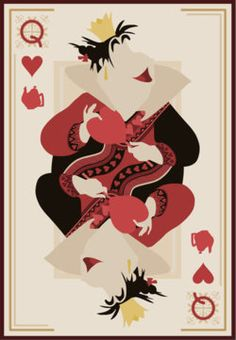 Queen of Hearts as the Queen of Hearts playing card