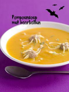 Soupe au potiron & boulettes de cheveux