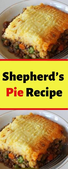 Shepherd's Pie Recipe You'll Need: 1 pound of ground beef. 3 cups of veggie of your choice. Cheese of your choice. How to: In a skillet, brown the ground beef with onions. In an pan, place the uncooked Casserole Recipes, Meat Recipes, Crockpot Recipes, Cooking Recipes, Potato Recipes, Dinner Recipes Easy Quick, Quick Dinner Recipes, Cheesy Chicken Pasta, Easy Eat