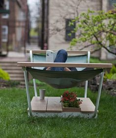 It's spring! Celebrate with a good book and a hammock, like this one from Chicago-based PlywoodOffice. #etsy