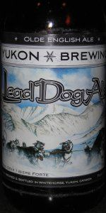 Lead Dog Olde English Ale, by Yukon Brewing, Whitehorse, YT - Lightweights like me will be done after one (7%!) even if the flavour leaves you wanting more.