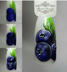 Acrylic Nail Tips, Summer Acrylic Nails, Spring Nail Art, Fruit Nail Designs, Manicure Nail Designs, Nail Art Designs, Nail Art Fruit, Food Nail Art, Pop Art Nails
