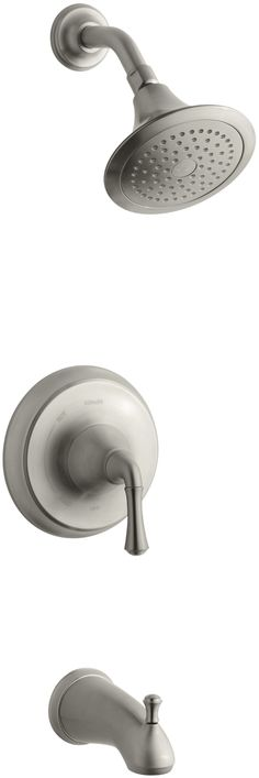 KOHLER K-T10275-4A-BN Forte Rite-Temp Pressure-Balancing Bath, Vibrant Brushed Nickel - Freestanding Bathtubs - Amazon.com