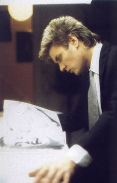Simon Le Bon, Is he looking at a picture of Yasmin? Sure looks like her.