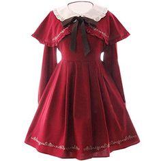 Partiss Damen Gothic Lolita Klassische Langaermel Vintage Cape Retrostil Cosplay Kostueme Fancy Dress Lolita Kleider , Chinese One Size, Wine red Partiss http://www.amazon.de/dp/B01D8ICW60/ref=cm_sw_r_pi_dp_lm87wb1F6YMQJ
