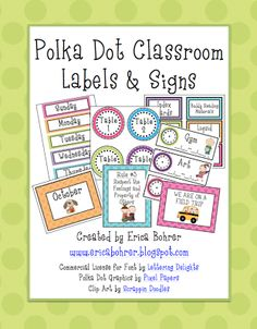 I am loving all the positive feedback I am getting on my Bright Polka Dot Classroom decor packs!  Thank you!  Thank you!  I actually first m...