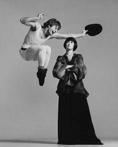 Mikhail Baryshnikov and Twyla Tharp, dancers, New York, December 26, 1975