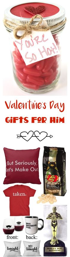 44 Valentines Day Gifts for Him!  So many fun, silly, and romantic gifts for your boyfriend or husband!  | TheFrugalGirls.com