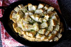 garlicky party bread with cheese and herbs