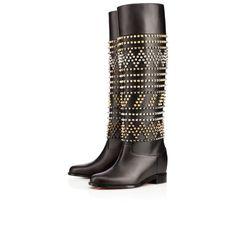 Rom Chic Flat 70mm Black Leather $2295