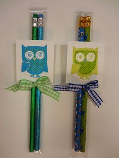 Idea for back to school gift for students using my owl theme :)