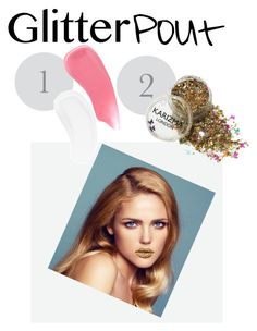 """How  to get a glitter pout"" by earthangell ❤ liked on Polyvore featuring beauty, Hourglass Cosmetics and Temptu"