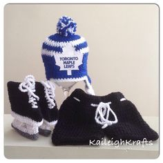 Toronto Maple Leafs Crochet Hat with NHL Patch 5b56f0247637