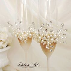 Your place to buy and sell all things handmade - Wedding champagne glasses - Champagne Wedding Decorations, Champagne Wedding Colors, Ivory Wedding, Wedding Champagne Flutes, Wedding Glasses, Champagne Glasses, Handmade Wedding, Personalized Wedding, Toasting Flutes