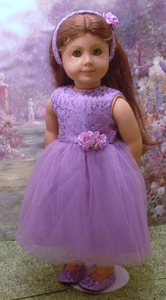 Purple Sparkle Dress with Matching Shoes and by MyGirlClothingCo