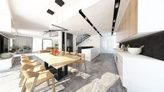 Luxusný interiér v kombinácii biela čierna a dub je nadčasový #jabrocky #whitekitchen #luxuryinterior Conference Room, Kitchens, Table, Furniture, Design, Home Decor, Decoration Home, Room Decor, Cuisine