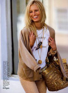 karolina kurkova, elle magazine - may 2005, photographed by Carlyne Cerf De Dudzeele